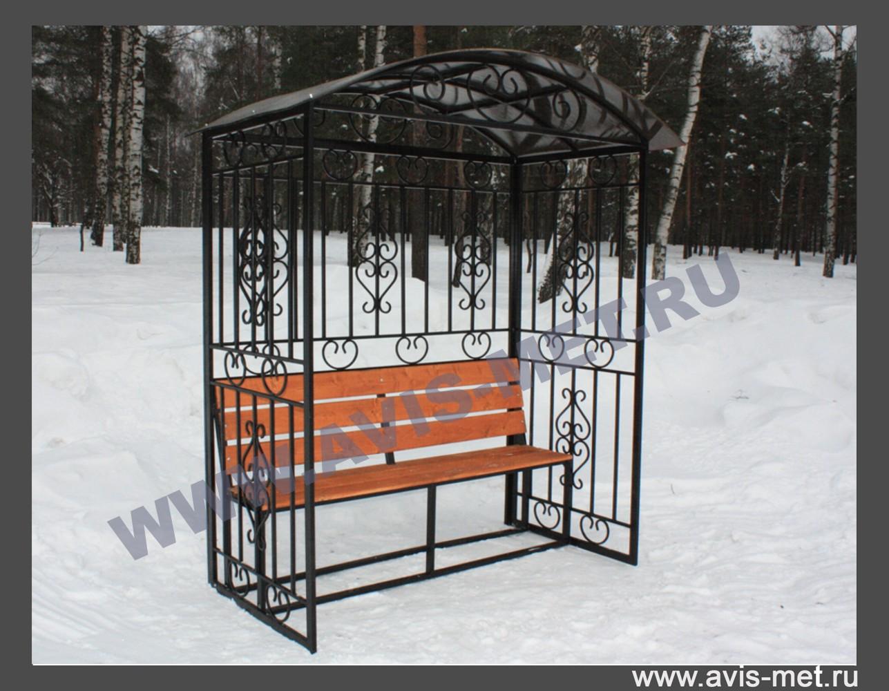Скамейка с навесом для дачи своими руками фото